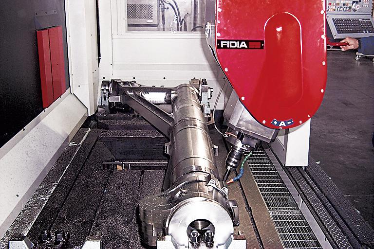 Testa Fidia su una macchina della serie K