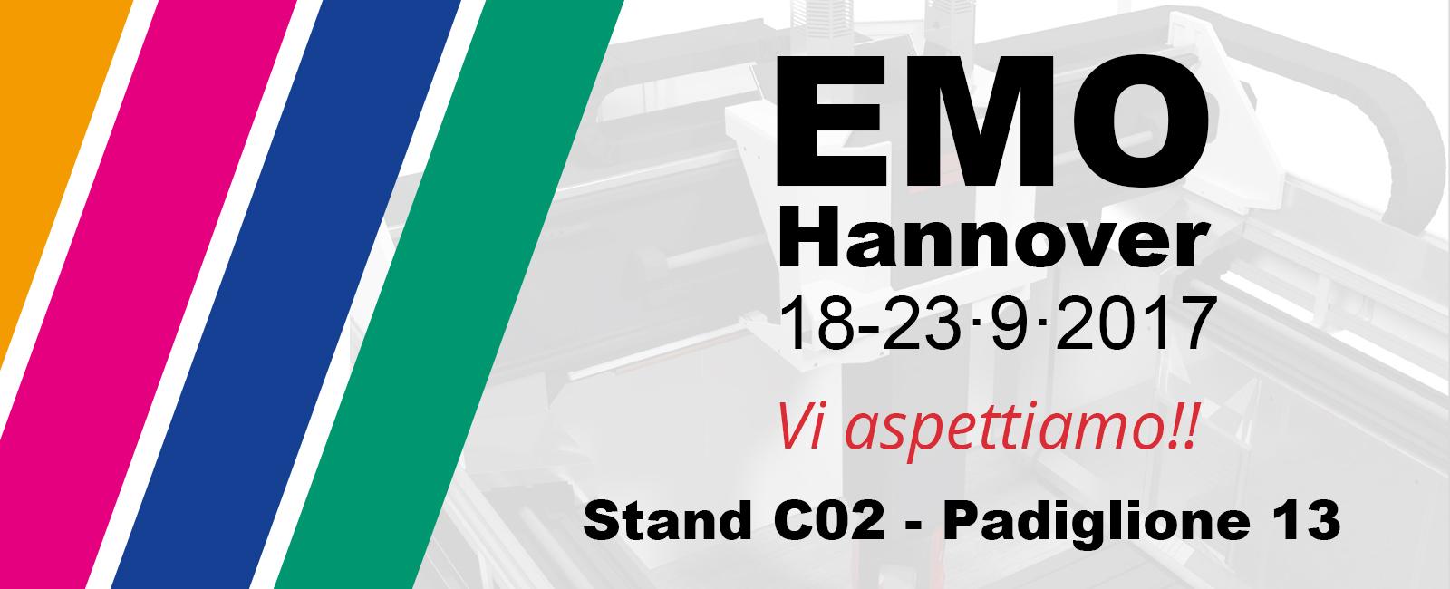 Fidia sarà presente alla EMO 2017 di Hannover, Stand C02 - Padiglione 13
